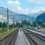 Bahnhof Steeg mit Dachstein. Foto: Martin Heppner